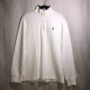 Polo Ralph Lauren boys 1/4 Zip up White sweater L